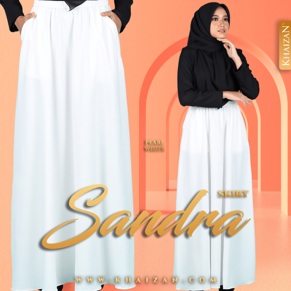 SANDRA SKIRT - PEARL WHITE - KHAIZAN