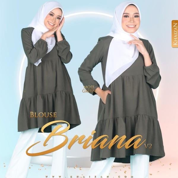 BLOUSE BRIANA V2 - MOSS GREEN - KHAIZAN