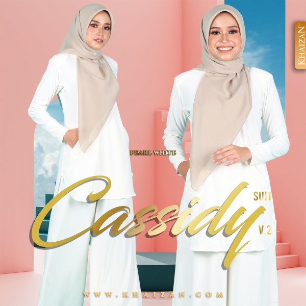 CASSIDY SUIT V2 - PEARL WHITE - KHAIZAN
