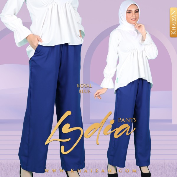 LYDIA PANTS - ROYAL BLUE - KHAIZAN