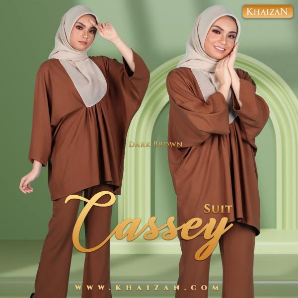 CASSEY SUIT - DARK BROWN - KHAIZAN