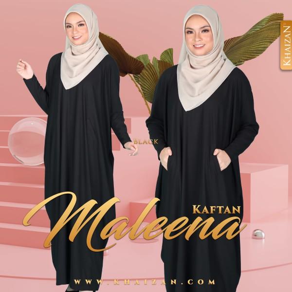 MALEENA KAFTAN - BLACK - KHAIZAN