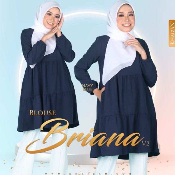 BLOUSE BRIANA V2 - NAVY BLUE - KHAIZAN