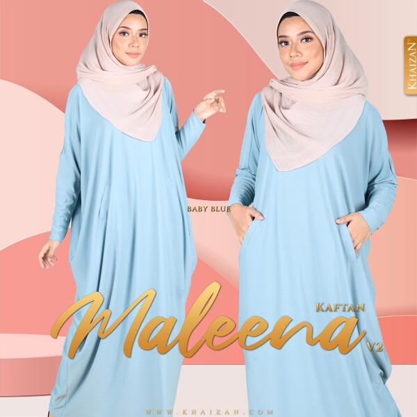 MALEENA KAFTAN V2 - DUSTY BLUE - KHAIZAN