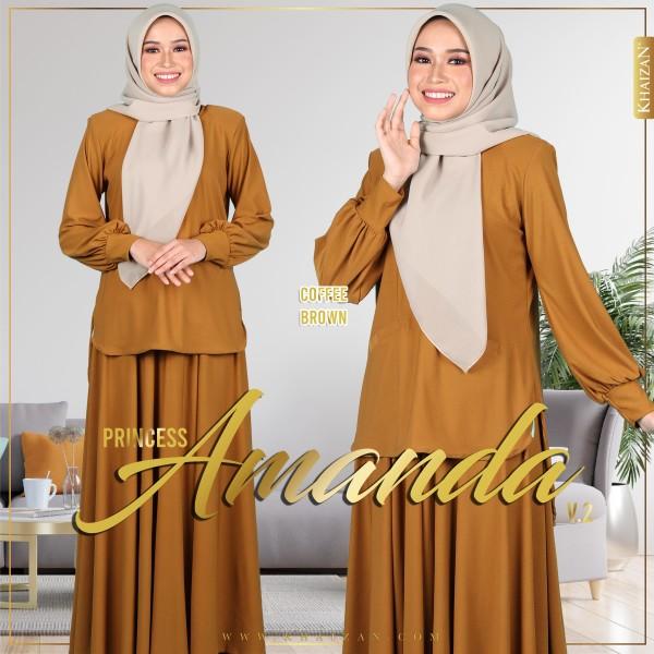 PRINCESS AMANDA V2 - COFFEE BROWN - KHAIZAN