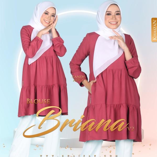 BLOUSE BRIANA V2 - CANDY APPLE - KHAIZAN