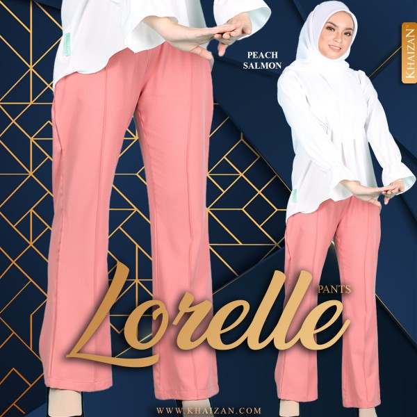 LORELLE PANTS - PEACH SALMON - KHAIZAN