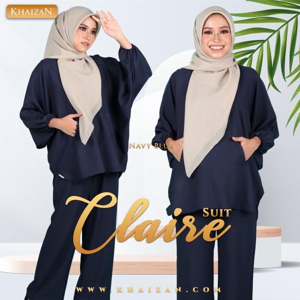 CLAIRE SUIT - NAVY BLUE - KHAIZAN