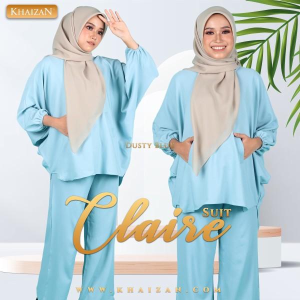 CLAIRE SUIT - DUSTY BLUE - KHAIZAN