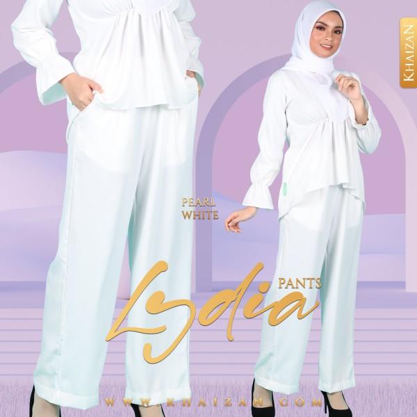LYDIA PANTS - PEARL WHITE - KHAIZAN