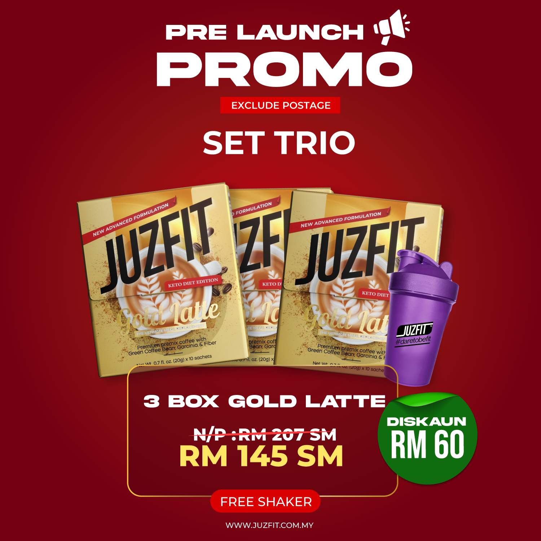 JUZFIT GOLD LATTE (TRIO)