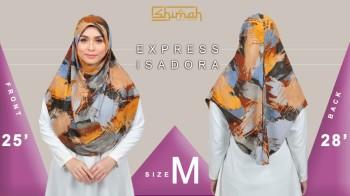 Poster Size bagi tudung Express Isadora Saiz M/L (V1 -V2)