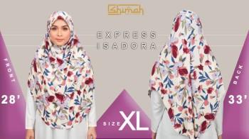 Poster Size bagi tudung Express Isadora Saiz XL (V1)