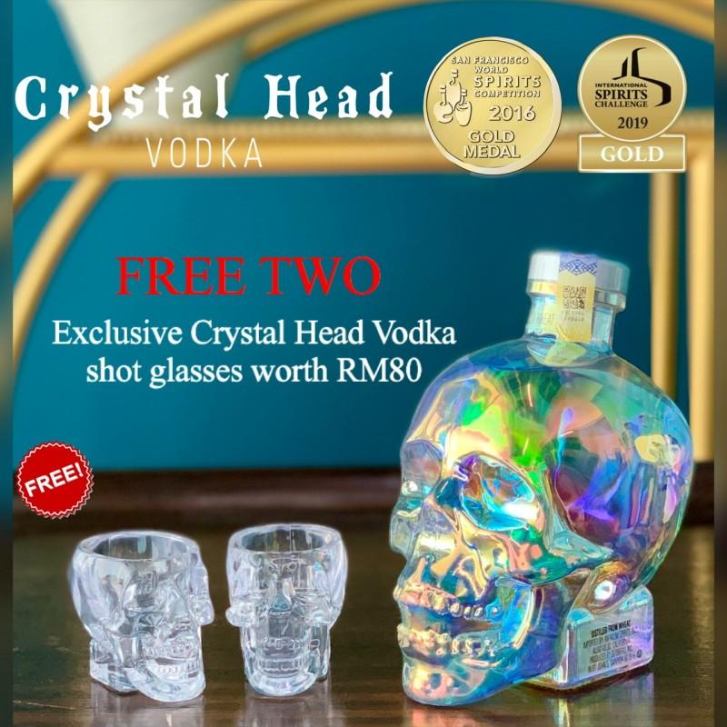 Crystal Head Vodka Aurora (FREE TWO Acrylic Shot Glass)
