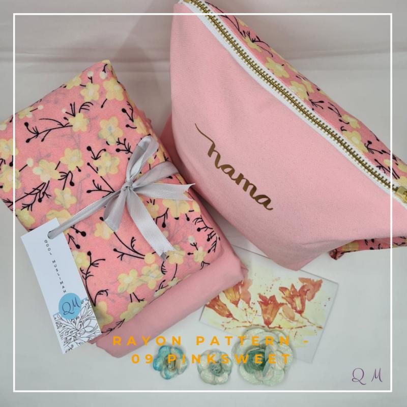Telekung Rayon - Pink Sweet