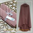 Telekung Armani Silk - Brick Pink - Qool Muslimah