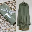 Telekung Silk - Pale Green - Qool Muslimah