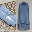 Telekung Silk - Princess Blue - Qool Muslimah