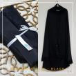 Telekung Armani Silk - Black - Qool Muslimah