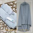 Telekung Armani Silk - Ice Blue - Qool Muslimah