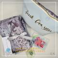Telekung/Mukena Armani Silk Floral Series - Pink Blue - Qool Muslimah