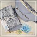 Telekung/Mukena Armani Silk Medallion Series-Winter Blue - Qool Muslimah