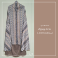 Telekung / Mukena Armani Silk Zigzag Series - Coffee - Qool Muslimah