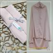 Telekung Silk - Light Pink - Qool Muslimah