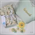 Telekung/Mukena Armani Silk Garden Series - Mint - Qool Muslimah