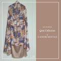 Telekung Silk - Auburn Montage - Qool Muslimah