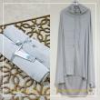 Telekung Armani Silk - Silver Blue - Qool Muslimah
