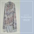 Telekung/Mukena Armani Silk Woodland Series - Misty Grey - Qool Muslimah