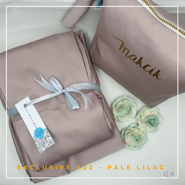 Telekung/Mukena Armani Silk - Pale Lilac - Qool Muslimah