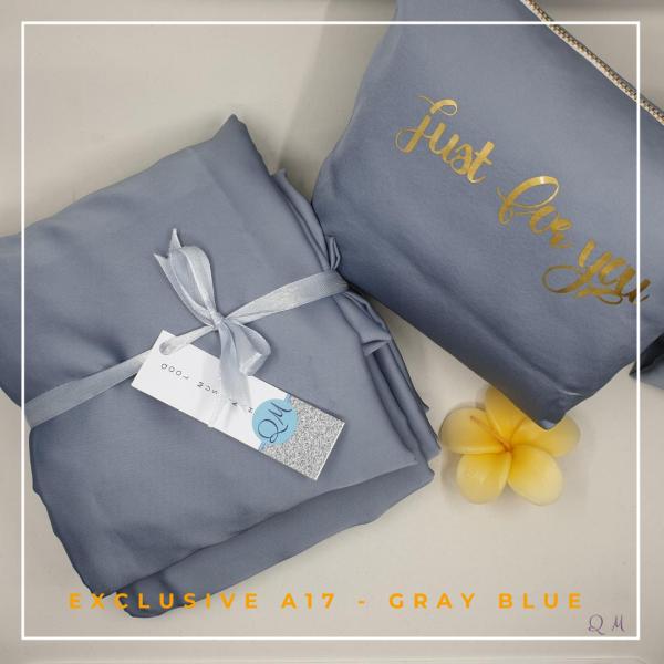 Telekung Silk - Gray Blue - Qool Muslimah