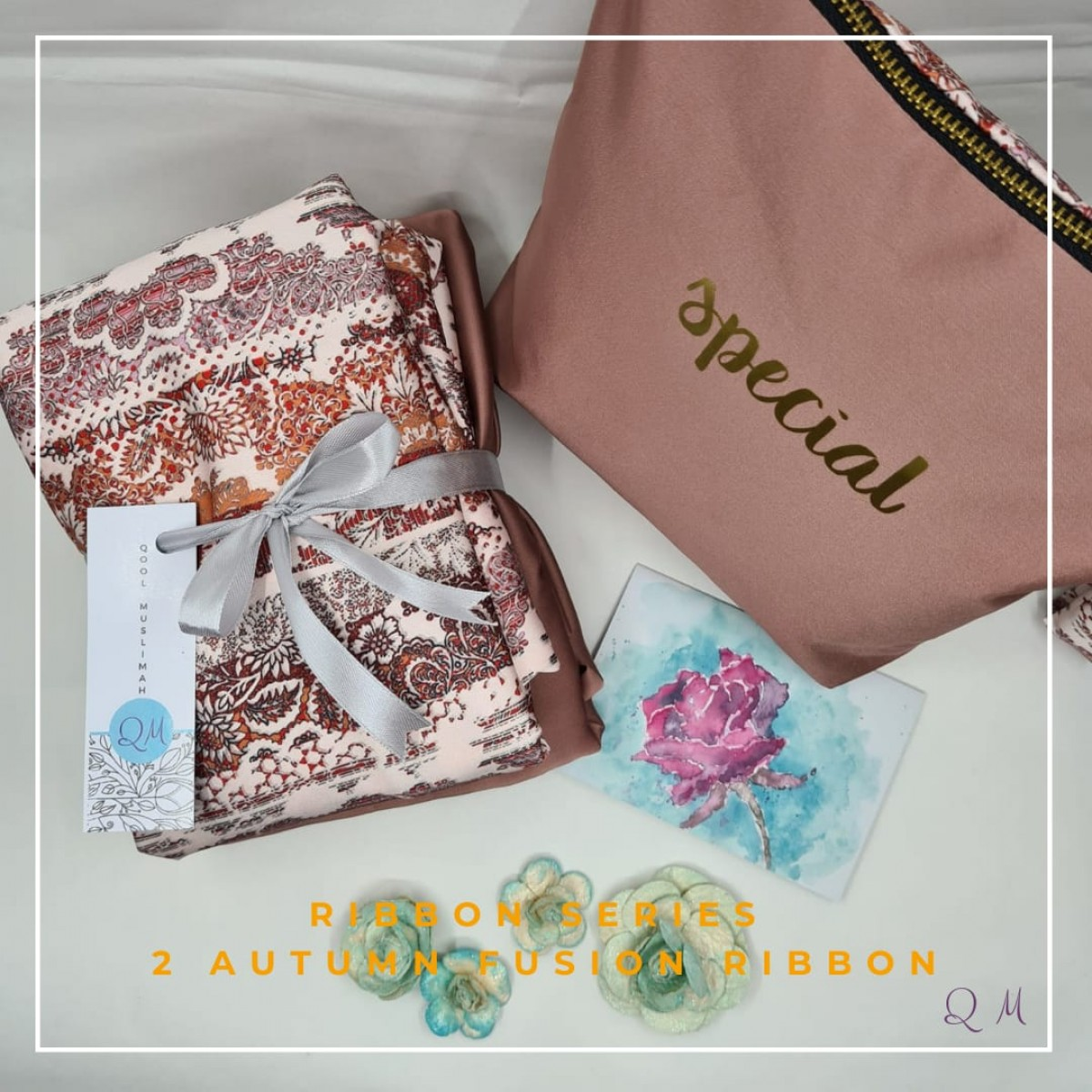 Telekung Silk Ribbon - Autumn Fusion - Qool Muslimah