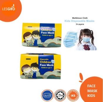 Face Mask Kids 1 Box - (50pcs) - KRTB Mart