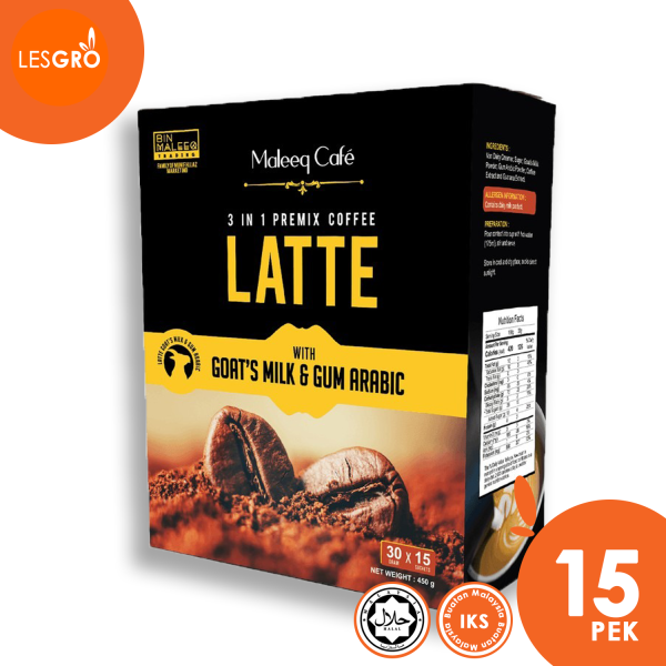 3 in 1 LATTE (30g x 15) - Maleeq Café  - Lesgro