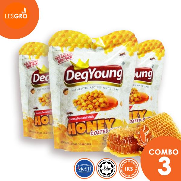 Kacang Bersalut Madu (50gx3) - DeqYoung - Lesgro