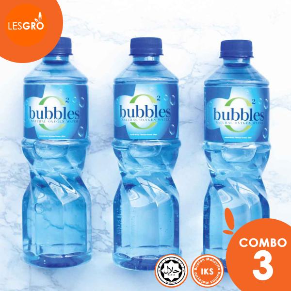 BUBBLES O² Air Mineral Semulajadi (500ml x 3) - Bubbles - Lesgro
