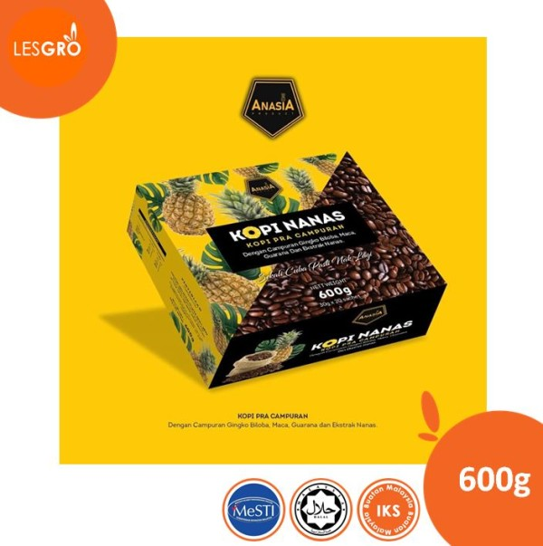Anasia Kopi Nanas | 30 gram x 20 sachet - Lesgro