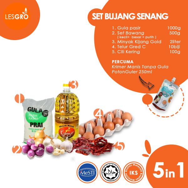 Set Bujang Senang - Lestari Grocer - Lesgro