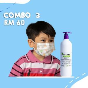 Combo 3 Face Shield + Hand Sanitizer