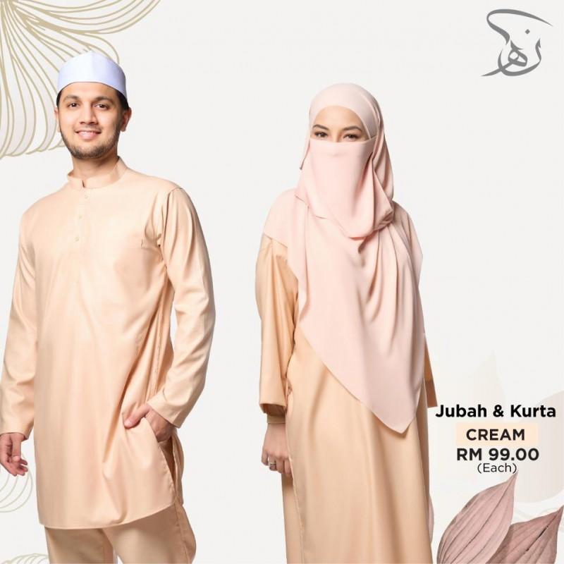 Set Couple Jubah & Kurta - Cream
