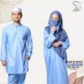 Set Couple Jubah & Kurta - Baby Blue - MARKAZ TIJAARI