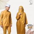 Set Couple Jubah & Baju Melayu - Gold - MARKAZ TIJAARI