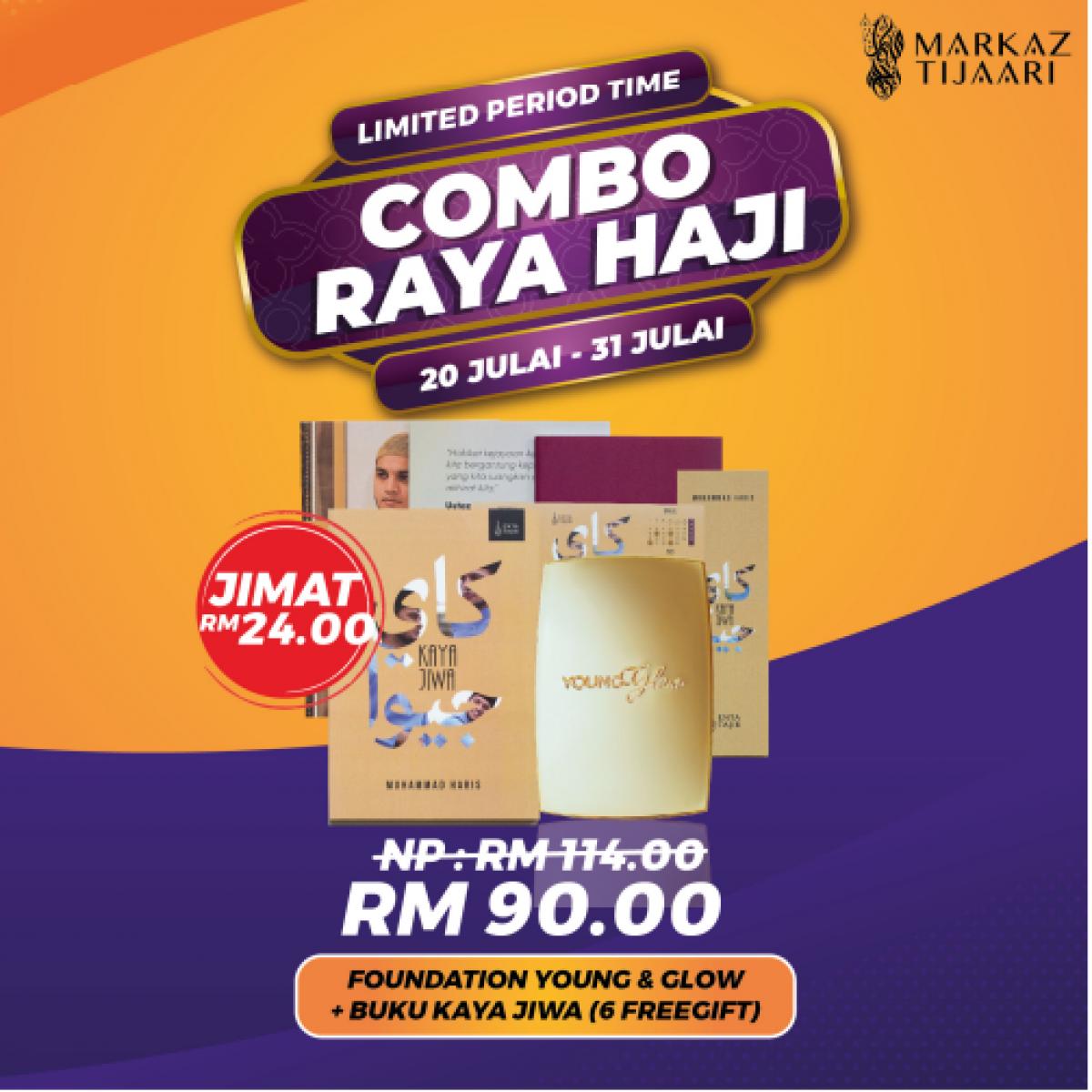 Foundation Young & Glow + Buku Kaya Jiwa Combo Raya Haji - MARKAZ TIJAARI