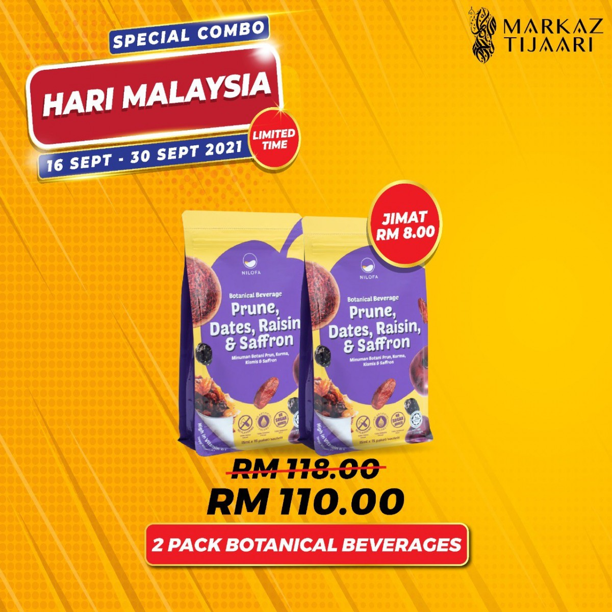 Malaysia Day Deals 2 Pack Botanical Beverage - MARKAZ TIJAARI