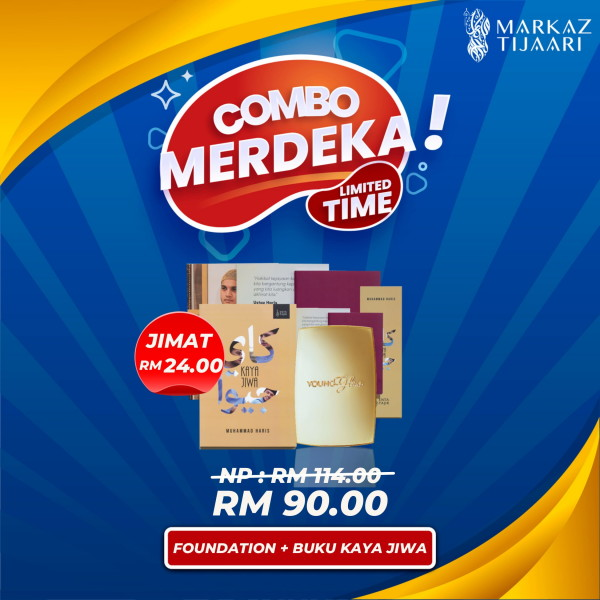 Foundation Young & Glow + Buku Kaya Jiwa Combo Merdeka - MARKAZ TIJAARI