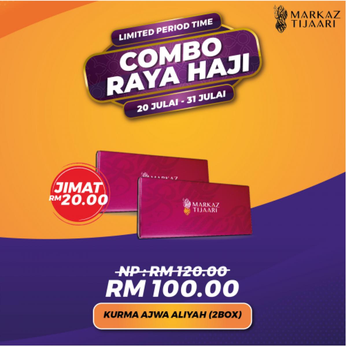 2 Box Kurma Ajwa Aliyah Combo Raya Haji - MARKAZ TIJAARI