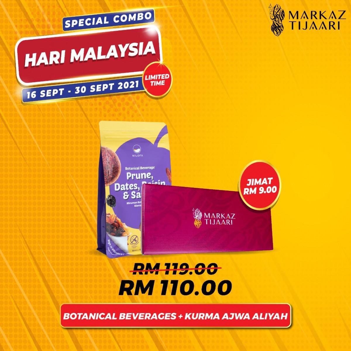 Malaysia Day Deals Botanical Beverage + Kurma Ajwa Aliyah - MARKAZ TIJAARI